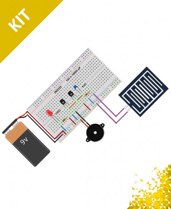 Simple Rain Alarm Circuit - مشروع منبه المطر باستخدام حساس ...